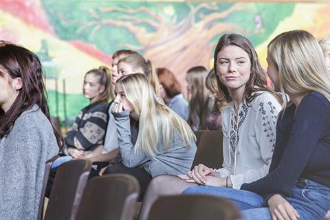 Elever til fællesmøde