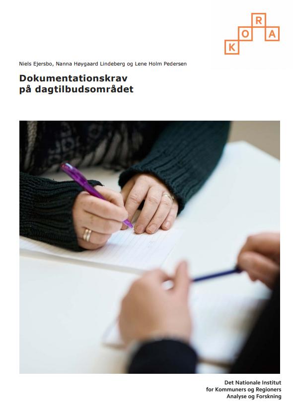 forside til rapporten dokumentationskrav til dagtilbudsområdet