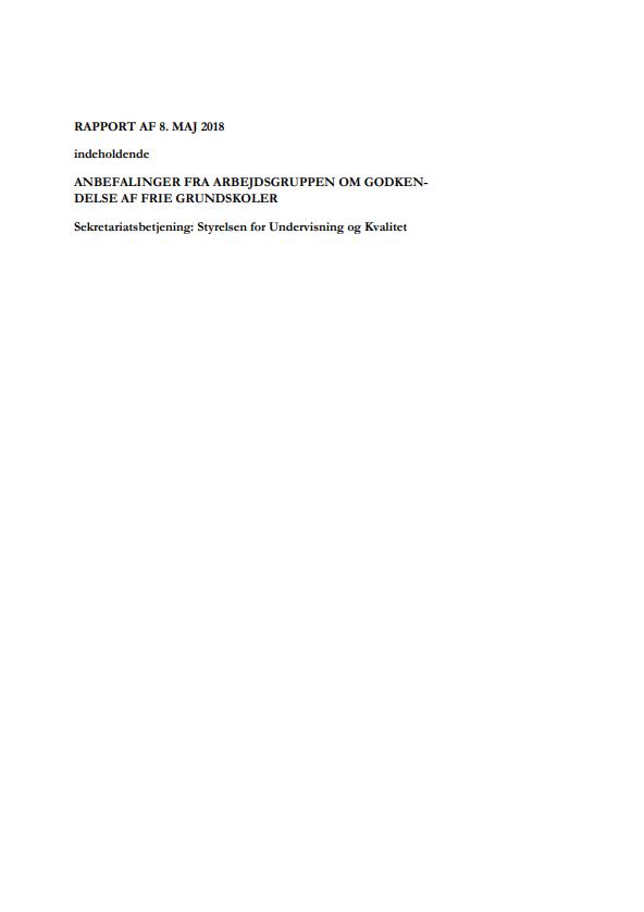 Rapportens forside med overskrift og dato