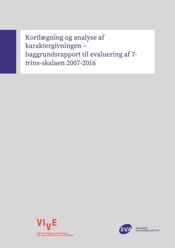 Rapportens forside med VIVE's logo og EVA's logo