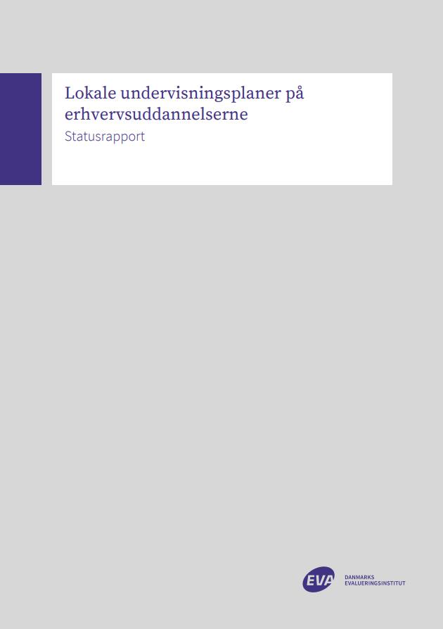 Rapportens forside med EVA's logo og rapportens titel