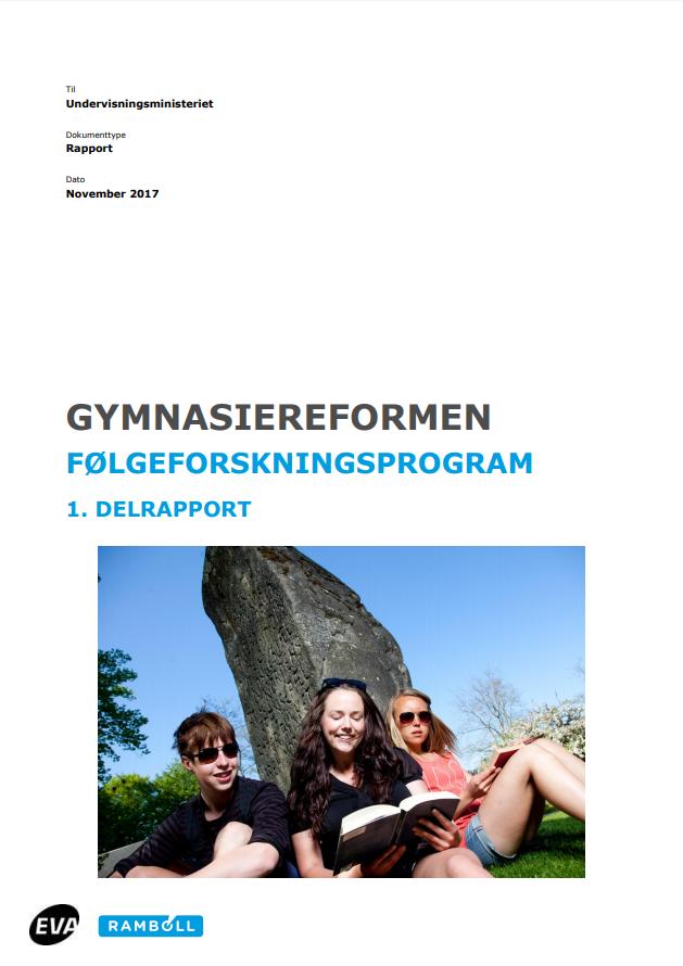 Rapportens forside med titel