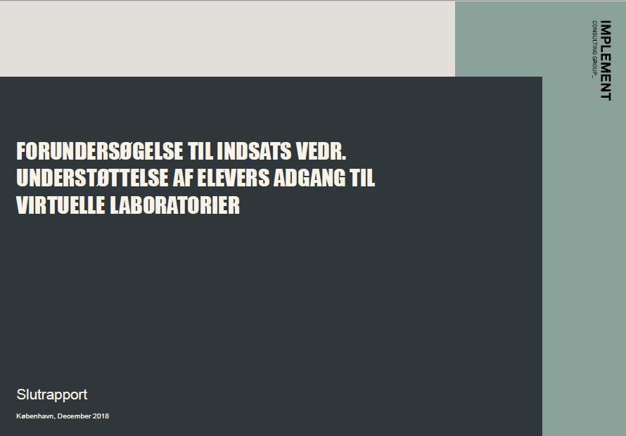 Forside Virtuelle laboratorier