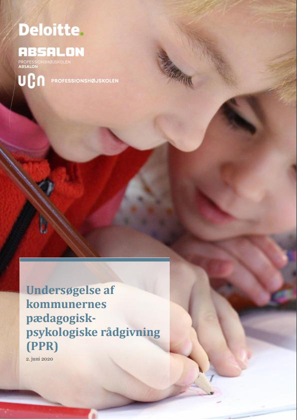 """Forside til publikationen """"Undersøgelse af kommunernes pædagogisk-psykologiske rådgivning (PPR)"""""""