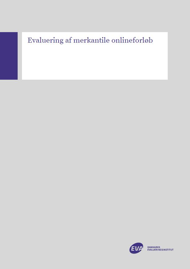 Forside til rapporten Evaluering af merkantile onlineforløb