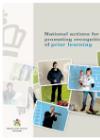 Forside til publikation 'national actions for promotinh recognition of prior learning'