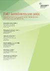 Forside til publikationen foU konferencen