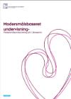 Forside til samlet rapport 'Modersmaalsundervisning'