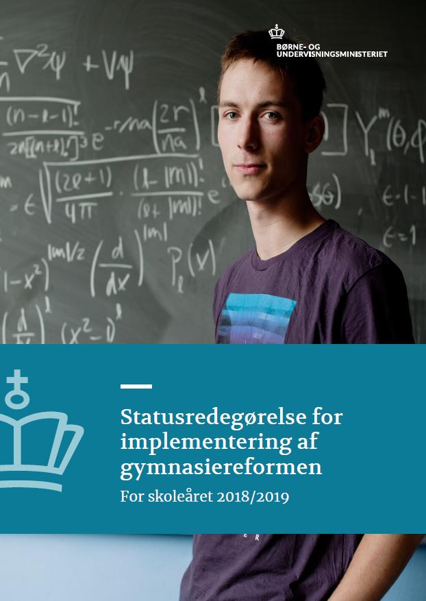Forside af rapporten: Statusredegørelse for implementering af gymnasiereformen