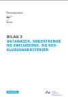 Forside til publikation 'forskningskortlægning læseforståelse og faglig læsningsdatabser og søgestrenge og in- og eksklusion'