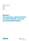 Forside til publikation 'forskningskortlægning om pædagogisk ledelsesdatabaser søgestrenge og in- og eksklusionskriterierne'