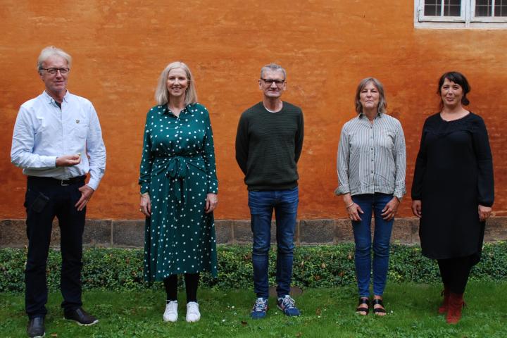 Skriverprisudvalget: Birgitte Reindel, Mette Marie Lorentzen, Kirsten Weile, Thomas Ais Christensen og Kaare Øster.